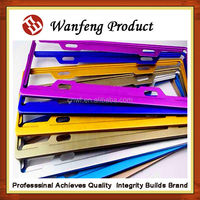 new design commonly Car license plate frame made in China by plastic or metal for global use