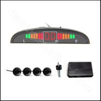 12v Auto Car LED Parking Sensor Electromagnetic Assistance Reverse Backup Radar Monitor System Backlight Display+4 Alarm Sensors