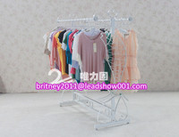 QS234 metal clothes shop display rack,used retail clothing racks