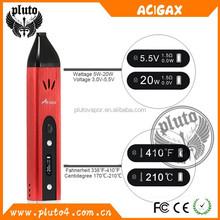 Best portable e cig vaporizer in Canada market for 2015 hot selling Acigax 2 in 1 vapor cigarette wholesale
