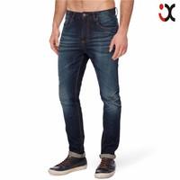 2015 washed skinny leg fit stretch denim embroidered back pocket new style jeans pent men JXQ938