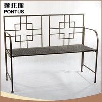 Professional design special outdoor decoration metal bench