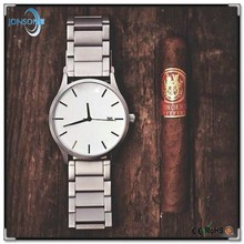 Genuine leather watch stainless steel case with custom logo alibaba express watches mens from alibaba china