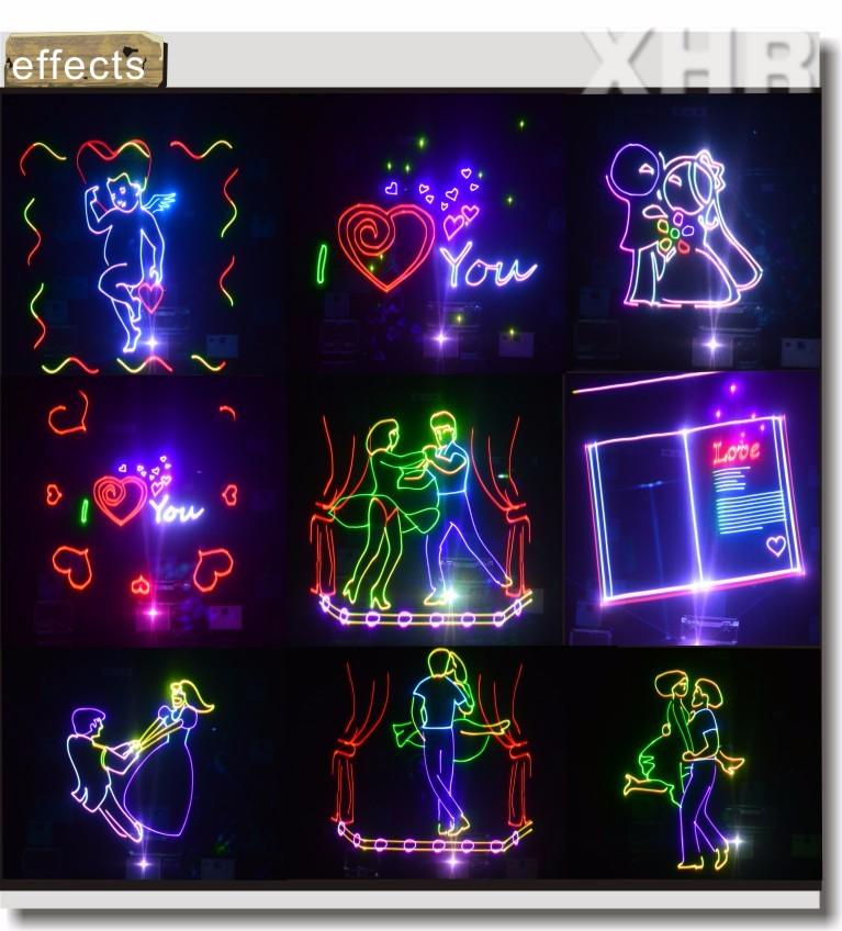 8 w multicolore laser clairage ext rieur projecteur pour le mariage rouge vert bleu spectacle for Projecteur laser multicolore