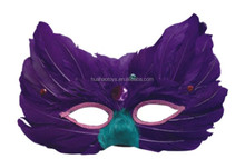 New Arrival Design Stylish Purple Feather Mask For Wholesale