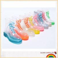 2015 NEW transparent waterproof PVC rain boots