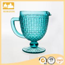 Bosa nova aqua hand made water pitcher glass