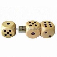 Dice USB Flash Drive / Bamboo USB Flash Drive / Eco-friendly USB Flash Drive