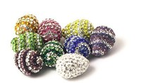 2015 New Beautiful Hot Selling Fashion Clay Pave Crystal Ball Beads