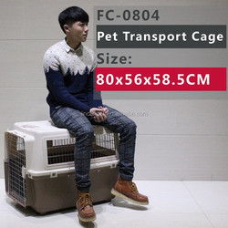 Indoor/Outdoor Plastic Pet cage with 4 sides ventilation