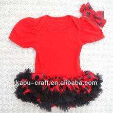fancy algodão bodysuits bebê com vestido bodysuit com joaninha tutu