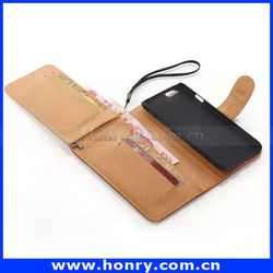 Genuine Flip Leather wallet Phone Case For iPhone 6 Cover case