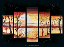 5pcs african Lanscape Oil Painting On Canvas PL-436
