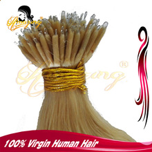 7A High Quality color #22 Body wave 100% Virgin Hair Extensions 1g Wholesale Pre-Bonded Nano Hair Extension