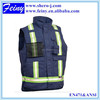 promotion wholesale mesh pockets zipper navy blue safety vest