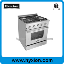 30inch free standing high end gas range with simmer fire 650BTU
