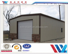 Made in China steel structure garage house/steel structure car garage for car parking