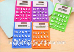 Keyboard style color office use silicone desktop calculator