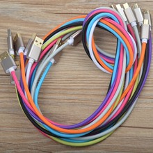 new design sync data fabric nylon colorful micro braided usb cable 1m 2m 3m for handphone (OEM ODM)