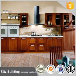 Polymer kitchen cabinet design, solid wood kitchen cabinet