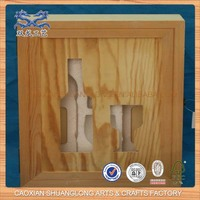 New Design Unfinished Cheap Wholesale Wooden Gift Box For Wine Glasses