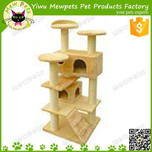 hot selling simple cat tree beige cat house condo