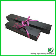 wholesale custom hair extension packaging with ribbon supplied by dongguan