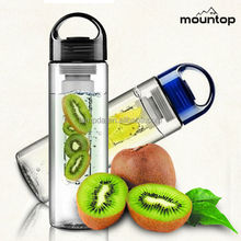 Hot fashion juice plastic bottles, tritan picture water bottles, splendid bottle with fruit infuser