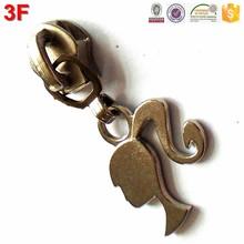 5# nylon chrome kid toy slider girl puller auto lock FX093