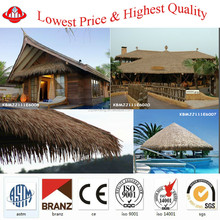 bottom price HDPE synthetic thatch roof