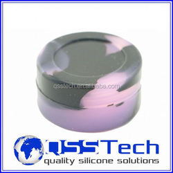 High quality 7ml customized small tea leaf storage jar/ oil dab wax container/ silicone wax and oil container