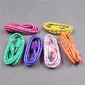 Alta calidad colorida 3 M pies trenzado tela de Nylon Micro cargador Usb Cable de extensión ( OEM ODM )