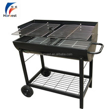 Pushing Hand Two Layer Wind Shield BBQ GRILL With Wheel HW1082