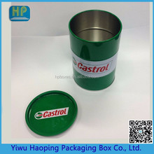 Custom Tin Canister ,Round cylinder tin Box and Oil Tin can for Lubricant