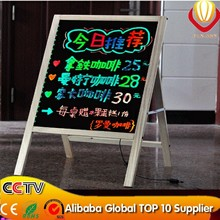new items alibaba wholesale 50*70cm wooden led writing board with marker pen