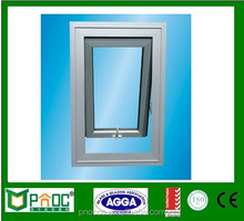 2015 Popular Residential Used Windows and Doors Comply aluminium with Australian Standards AS2047 top hung windows
