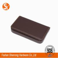 custom cheap gift pu leather name card case