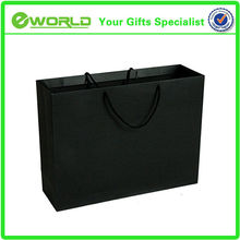 Top quality custom logo paper shopping bag craft recycle black paper bag