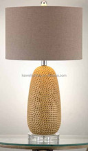 2015 hot crystal base and ceramics body guest room table lamp
