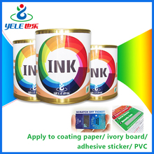 Eco-friendly scratch off ink for copper plate paper