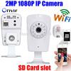 ONVIF Mini IP Wireless wifi 2.0 Megapixel ip camera 1080P HD Cam WiFi IR Dual Audio Network Security WebCam Camera SD Card slot