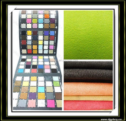 nonwoven two side alcantara suede leather adhesive back