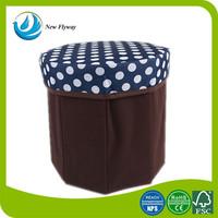 cheap Sturdy Round dot printing non woven fabric ottoman