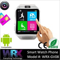 WRX-GV08 Bluetooth 3.0 Smart Watch Mobile Phone Sync For Android Samsung Galaxy S5