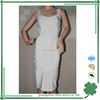 white graceful knee-length fashion dresses girls for party