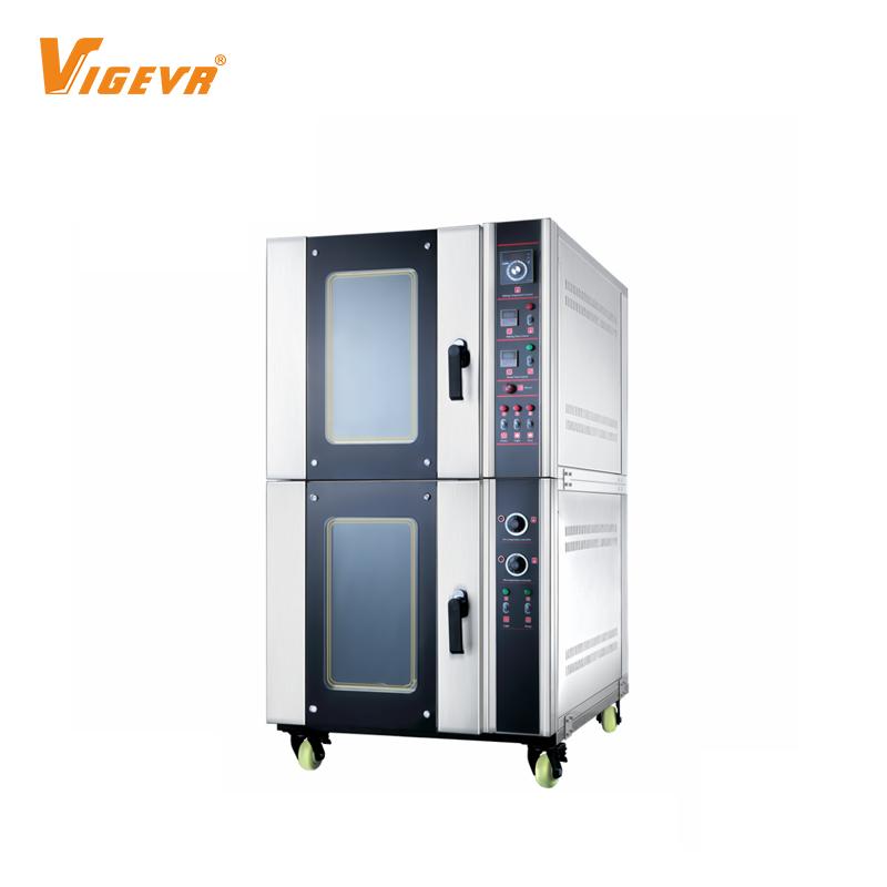 Forno a gas per convezione ad aria calda per fermentazione elettrica con scatola di cottura a 5 vassoi