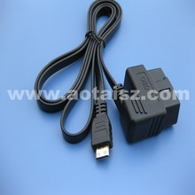 Professional obdii diagnosic flat cable to USB interface for car or mobile phone