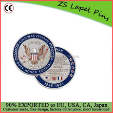 Custom quality Cold War Veteran Challenge Coin