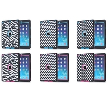 3 in 1 Polka dot&Wave Pattern Robot Tablet Cover Case for iPad Air 2/ iPad 6