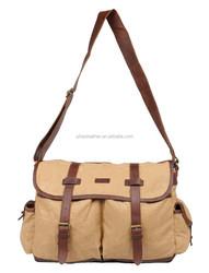 2015 New arrival canvas messenger bag shoulder bag